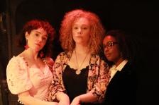 Cast Actresses - Daughters of Solanas. Actresses Rebbekah Vega-Romero, McKenzie Mayle and Malinda Logan - Photo by Briana M. Andrews April 6, 2019
