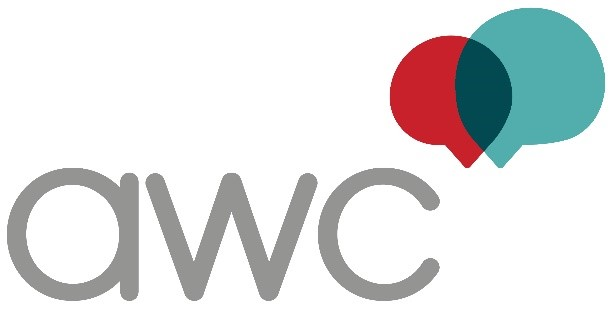 AWC Logo, Association for Women in Communications, WOMCOM, Graphic, Image