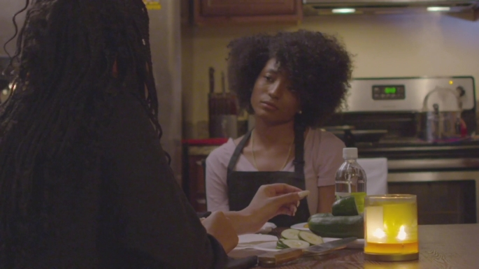 Opening scene with actresses Ayana Andrews and Cashaey Serenity. Let Live Short Film.