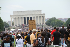 """Artists for George Floyd"" - March on Washington on the 57th Anniversary of Dr. Martin Luther King's ""I Have a Dream"" Speech. Photo by Briana M. Andrews, August 28, 2020."